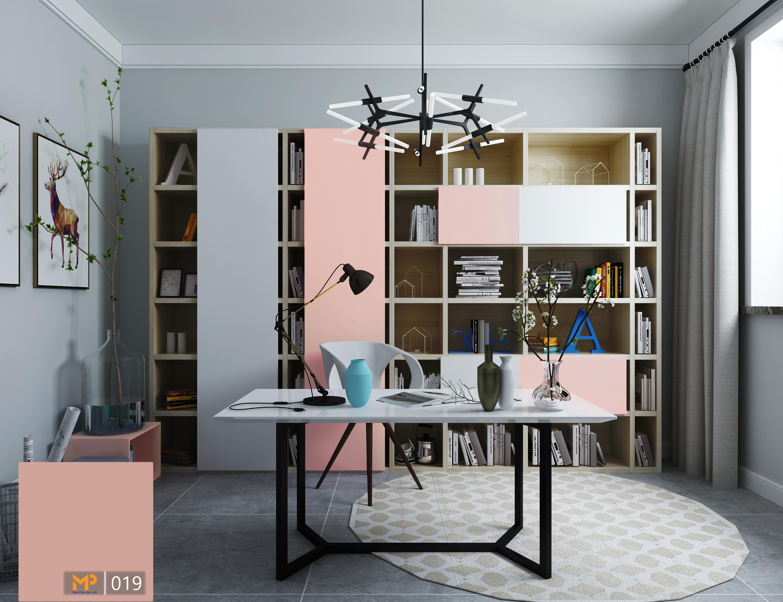 Giảm căng thẳng khi trang trí phòng làm việc với màu hồng pastel