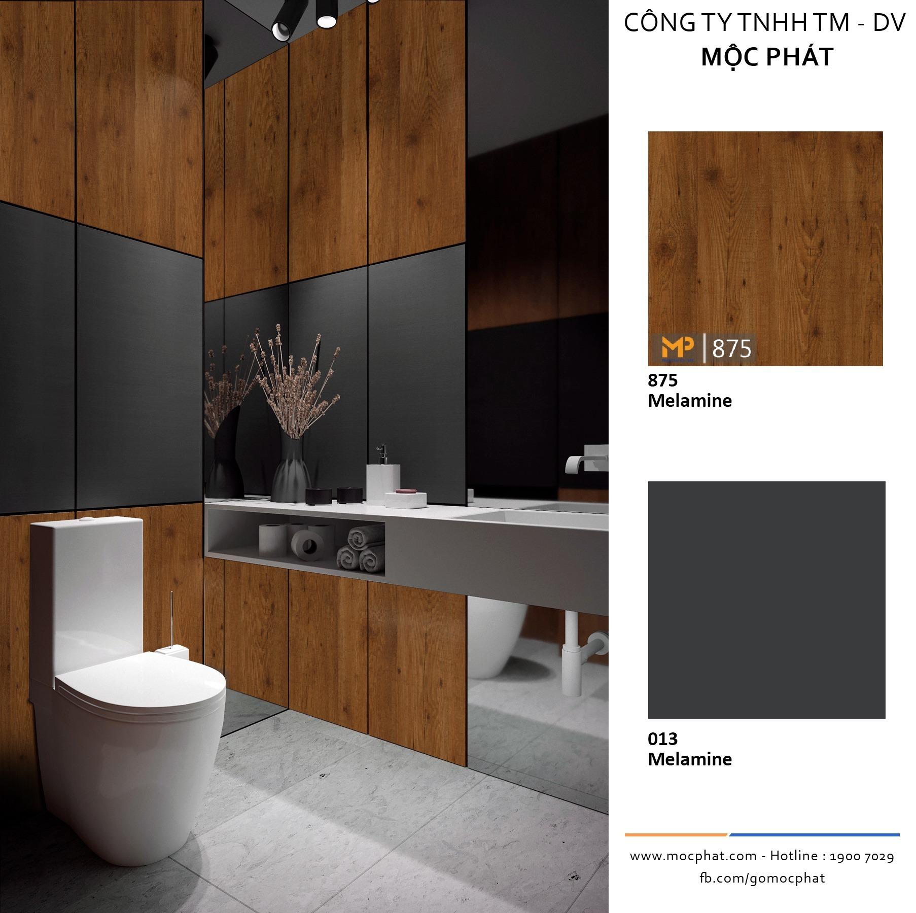 Đẹp miễn chê khi thay gạch ốp tường toilet bằng MFC chống ẩm